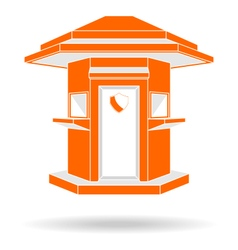 Guardhouse modern style front view vector