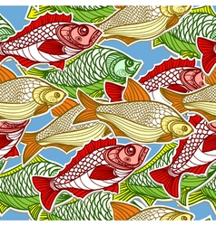 Fish in the sea vector image