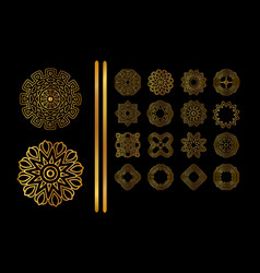 gold pattern isolated on background vector image