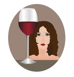Female alcoholism vector