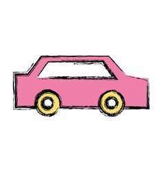 Normal car to transportation and modern style vector