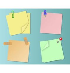 Set pieces of paper of different colors vector