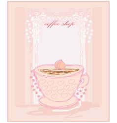 Coffee cup from hearts vector