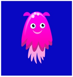 Pink jellyfish vector