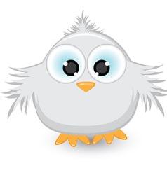 cartoon gray sparrow vector image