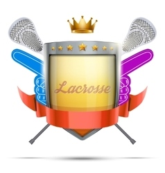 Label for lacrosse sport club or event bright vector