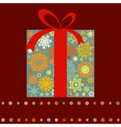 Christmas box background vector