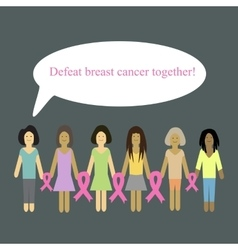 Defeat cancer together vector