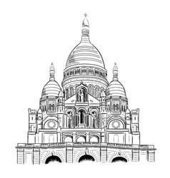 Sacre coeur isolated on the white vector