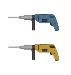 Hand drill set vector