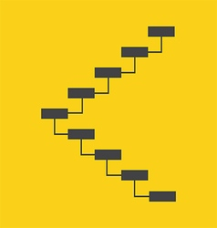 Stair icon vector