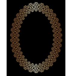 Oval gold frame vector