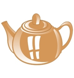 Gray teapot from porcelain vector