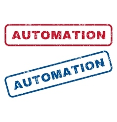Automation rubber stamps vector