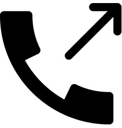 call made vector image