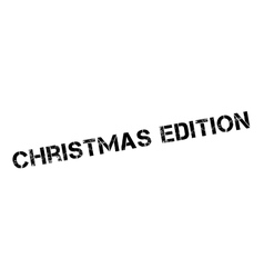 Christmas edition rubber stamp vector