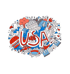 concept usa vector image vector image