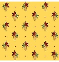 Corn pattern yellow background vector image vector image