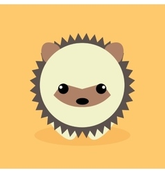 Cute cartoon porcupine vector