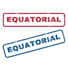 Equatorial rubber stamps vector
