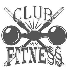fitness club sport logo and pictures vector image