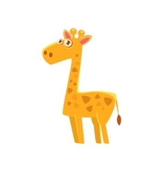 Giraffe Toy Exotic Animal Drawing vector image vector image