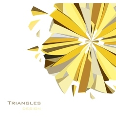 Golden abstract geometric background vector