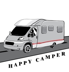 Hand drawn doodle cars recreational vehicles vector