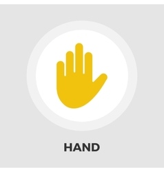 Hand icon flat vector image vector image