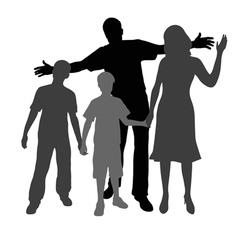 Happy family vector