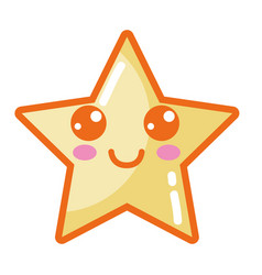 Kawaii cute happy star sparkly vector