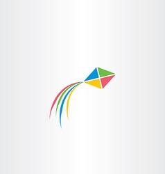 kite icon colorful design vector image