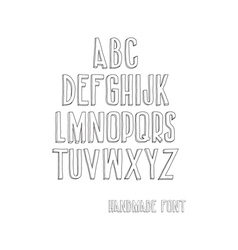 Letters of the alphabet written with a hand vector image vector image