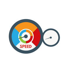 loading speed gauge vector image