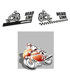 Motorbike logo vector image