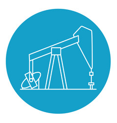 oil rig icon in thin line style vector image