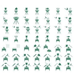 Set of barbecue i vector