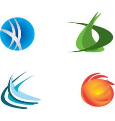 set of logo design vector image
