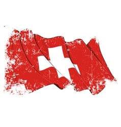 Switzerland Flag Grunge vector image vector image
