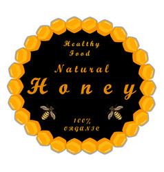 the theme honey vector image
