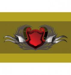 vintage shield vector image vector image