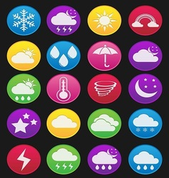 weather effect icon gradient style vector image vector image