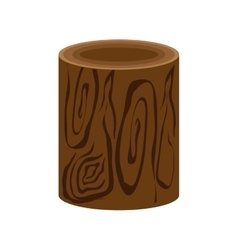 Trunk piece nature wood icon graphic vector