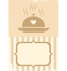 Food retro vector image
