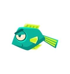 Turquoise cheeky fantastic aquarium tropical fish vector