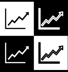 Growing bars graphic sign  black and white vector