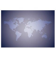 Light violet background with map of the world vector