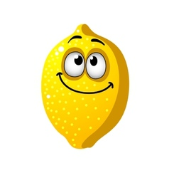 Fun cartoon lemon fruit vector