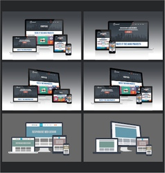 Responsive screen mockup vector