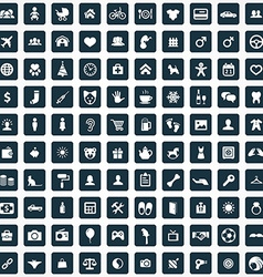 100 family icons vector